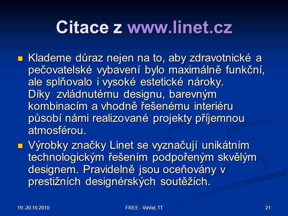 Citace z www.linet.cz