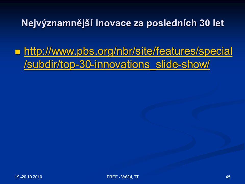 Nejvýznamnější inovace za posledních 30 let