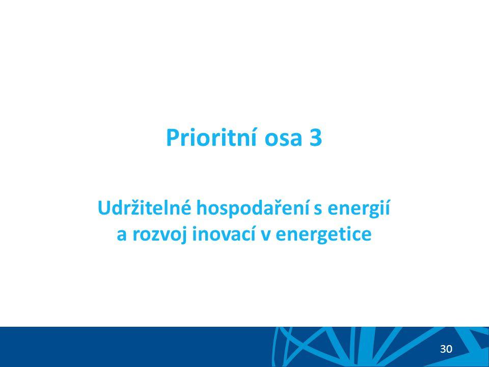 Udržitelné hospodaření s energií a rozvoj inovací v energetice