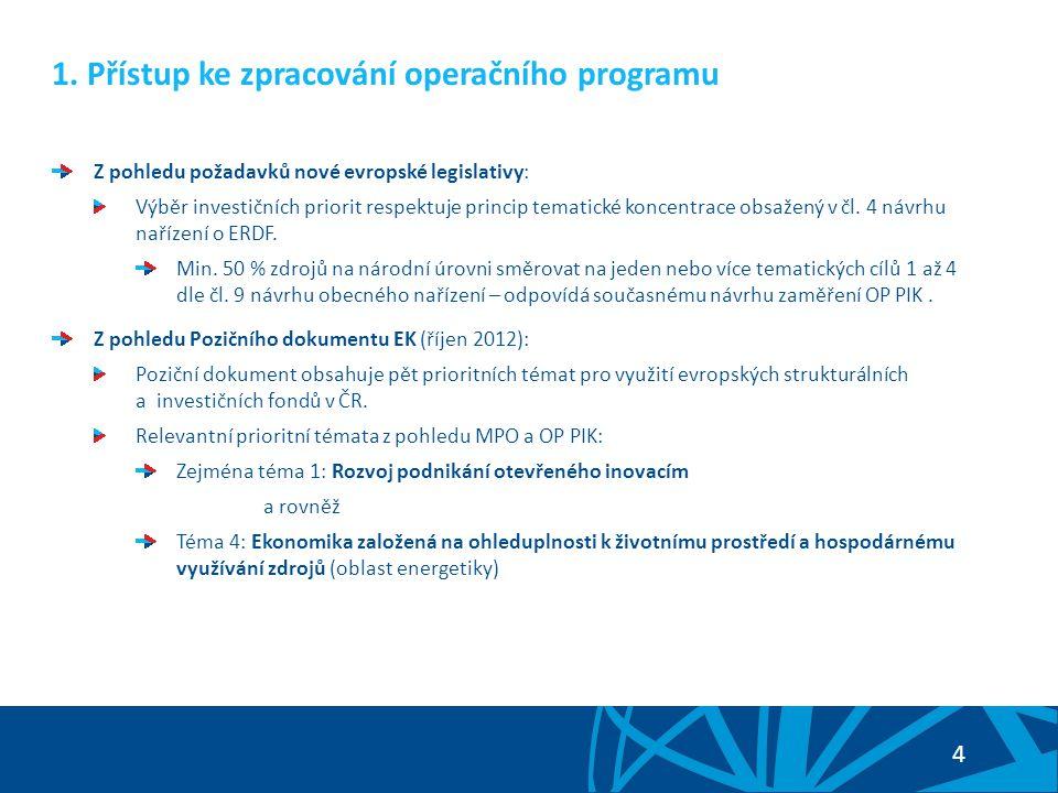 1. Přístup ke zpracování operačního programu