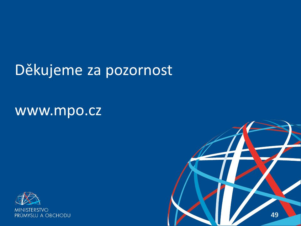 Děkujeme za pozornost www.mpo.cz