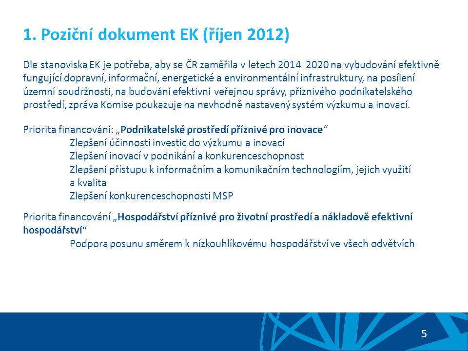 1. Poziční dokument EK (říjen 2012)