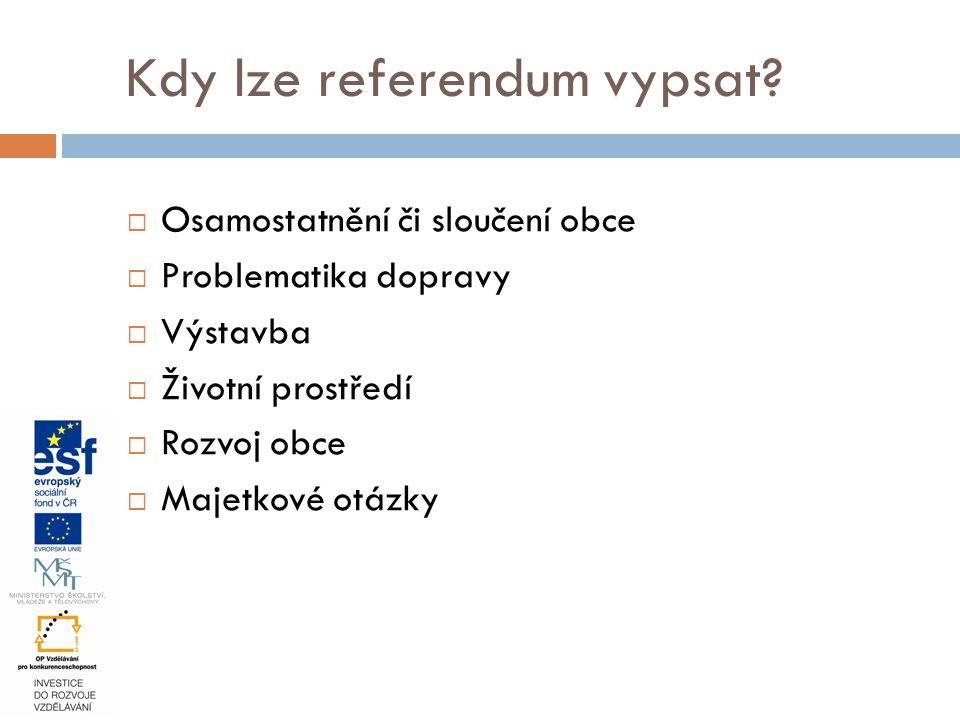 Kdy lze referendum vypsat