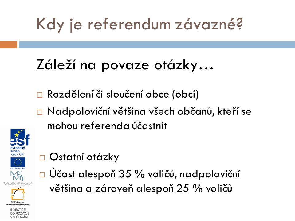 Kdy je referendum závazné