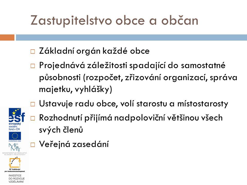Zastupitelstvo obce a občan