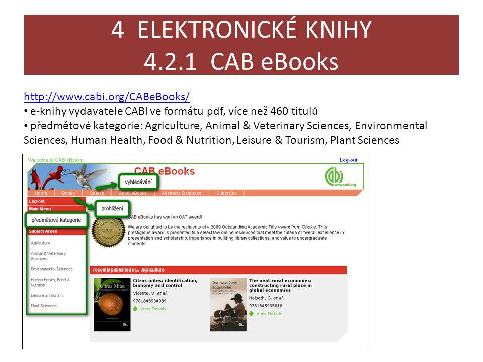 4 ELEKTRONICKÉ KNIHY 4.2.1 CAB eBooks