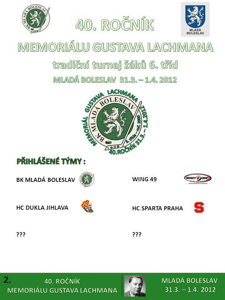 MEMORIÁLU GUSTAVA LACHMANA tradiční turnaj žáků 6. tříd