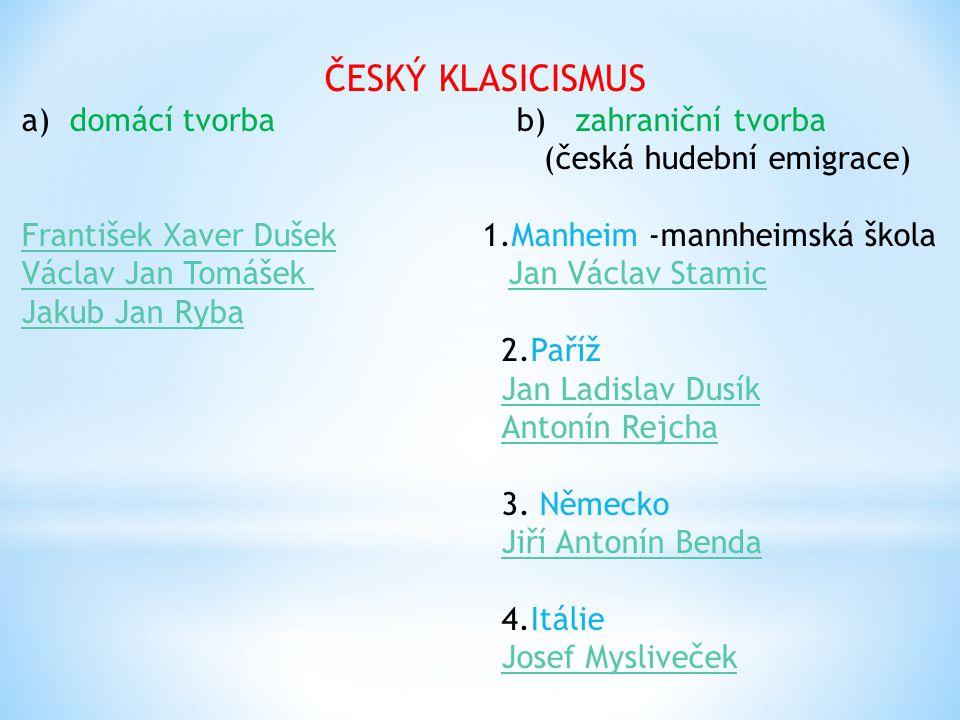 ČESKÝ KLASICISMUS