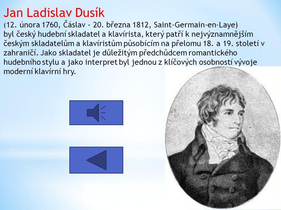 Jan Ladislav Dusík (12. února 1760, Čáslav – 20