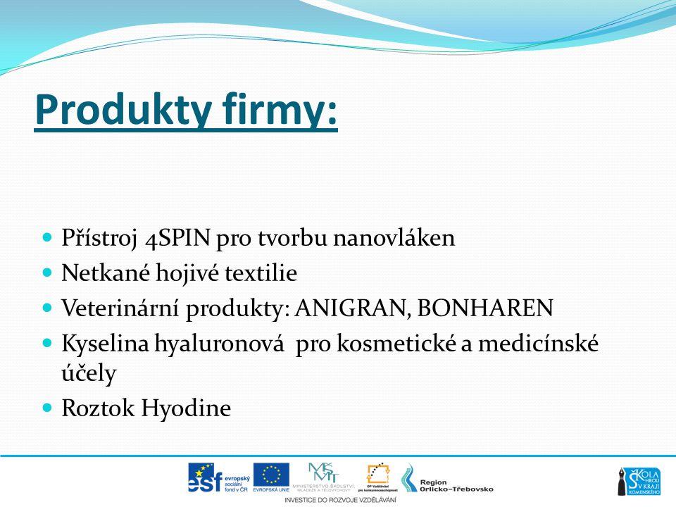 Produkty firmy: Přístroj 4SPIN pro tvorbu nanovláken