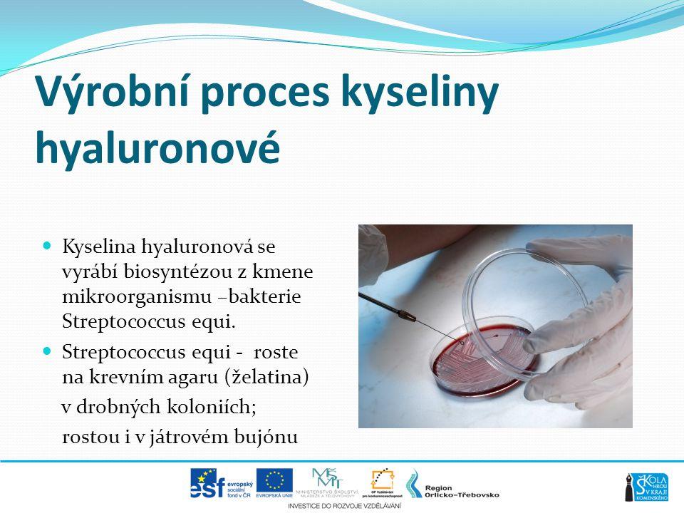 Výrobní proces kyseliny hyaluronové