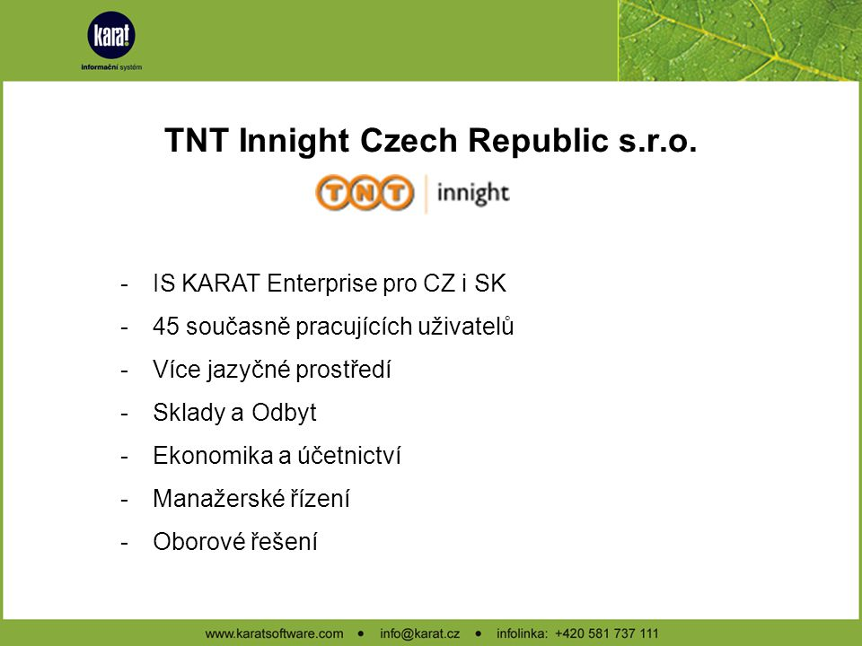 TNT Innight Czech Republic s.r.o.
