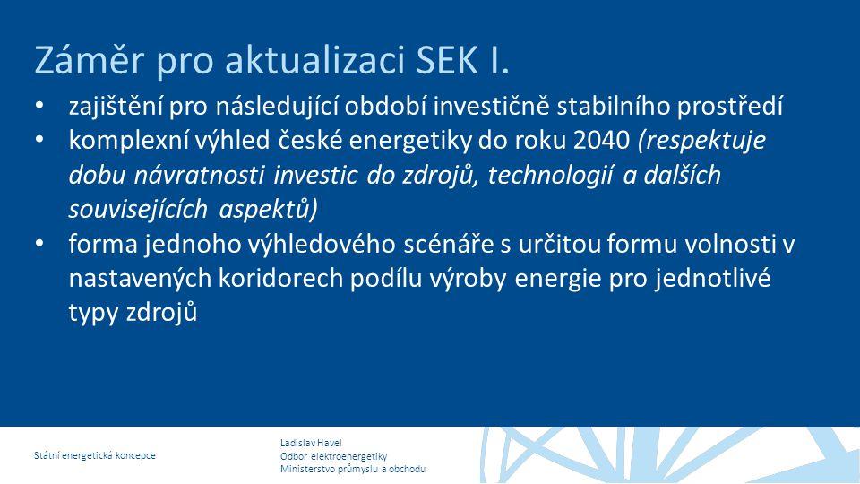 Záměr pro aktualizaci SEK I.