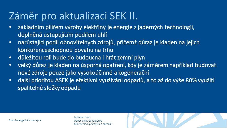 Záměr pro aktualizaci SEK II.