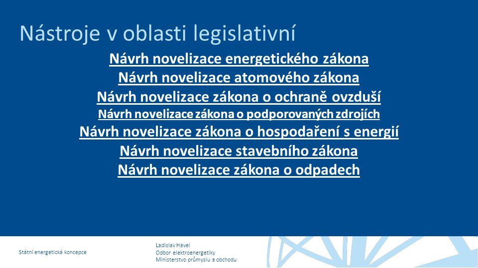 Nástroje v oblasti legislativní