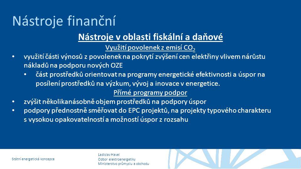 Nástroje v oblasti fiskální a daňové