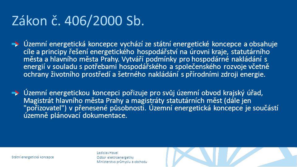 Zákon č. 406/2000 Sb.