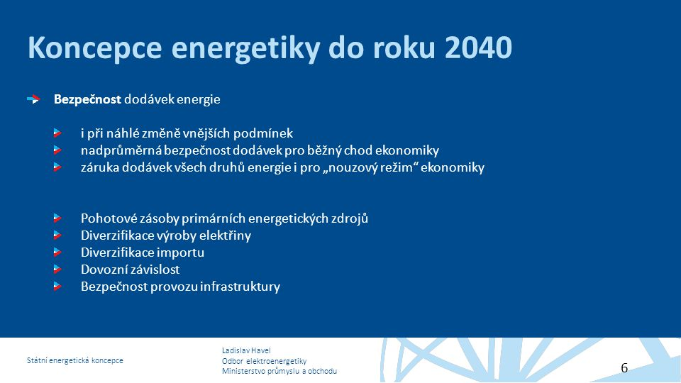 Koncepce energetiky do roku 2040