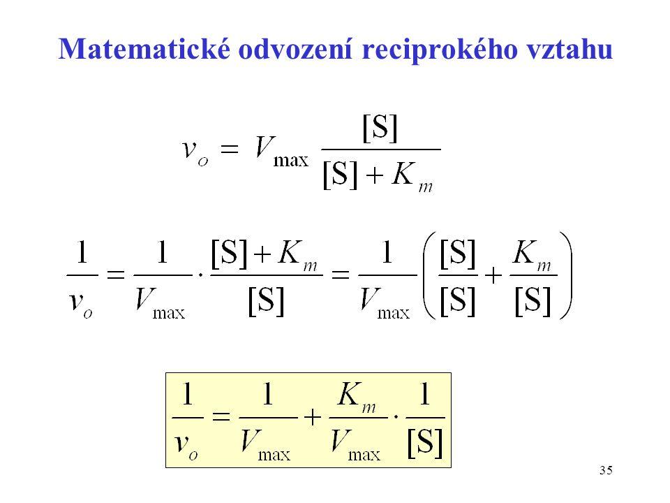 Matematické odvození reciprokého vztahu
