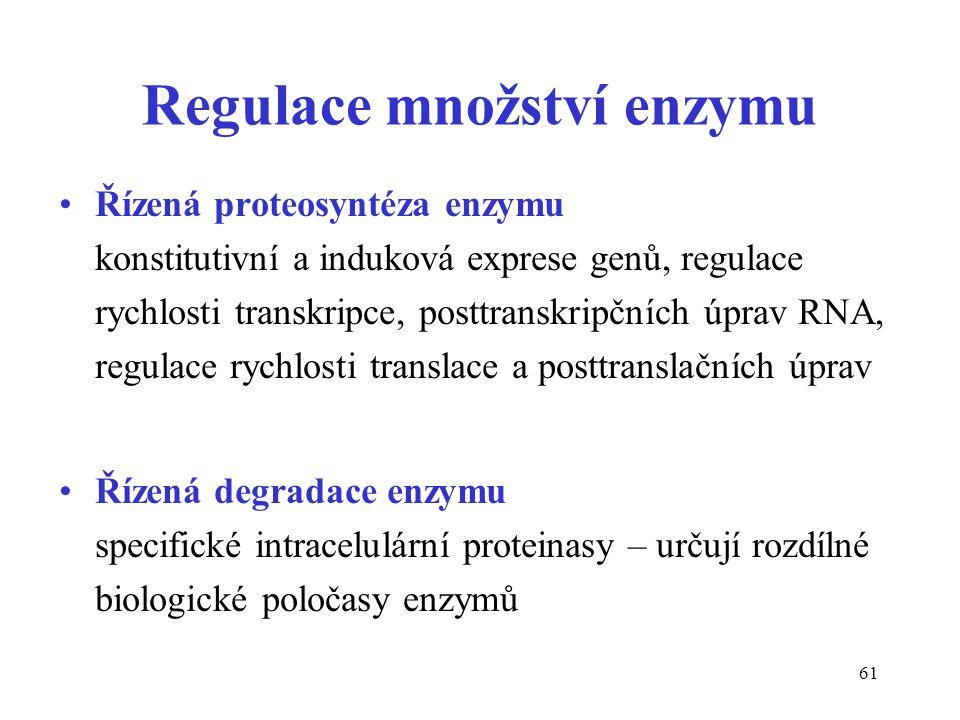 Regulace množství enzymu