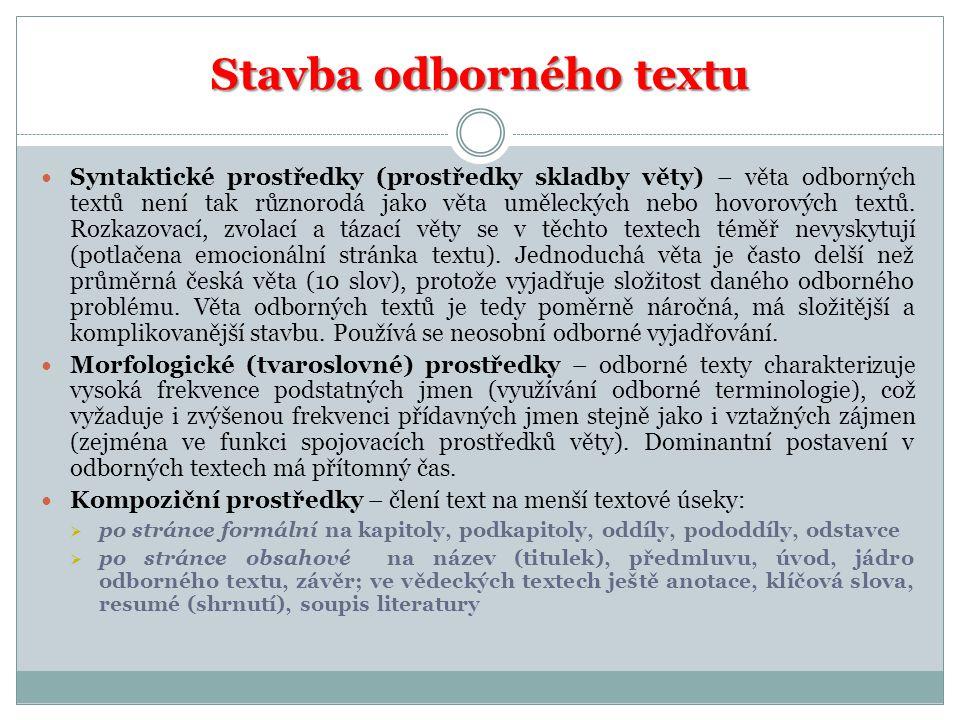 Stavba odborného textu