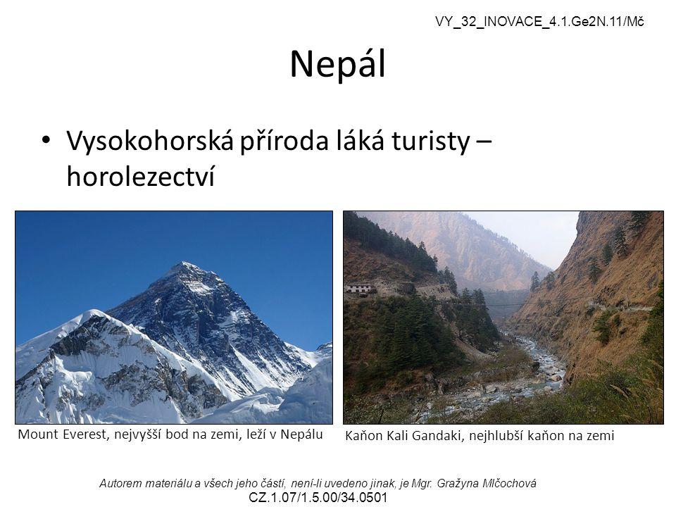 Nepál Vysokohorská příroda láká turisty – horolezectví