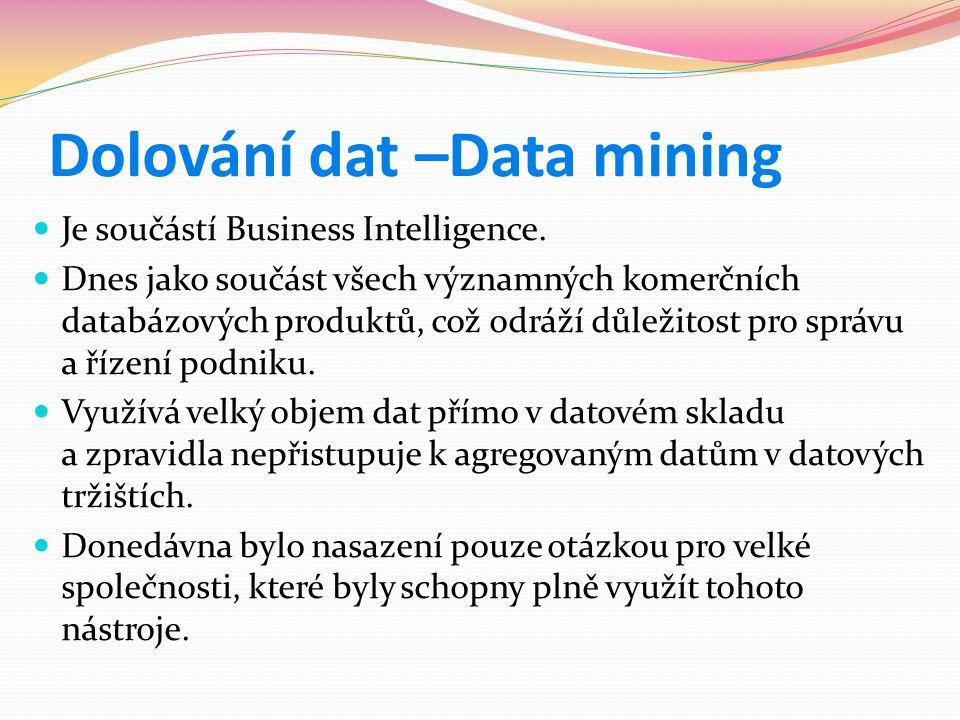 Dolování dat –Data mining