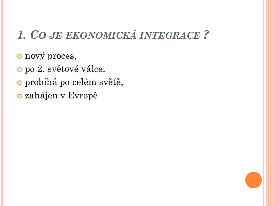 1. Co je ekonomická integrace