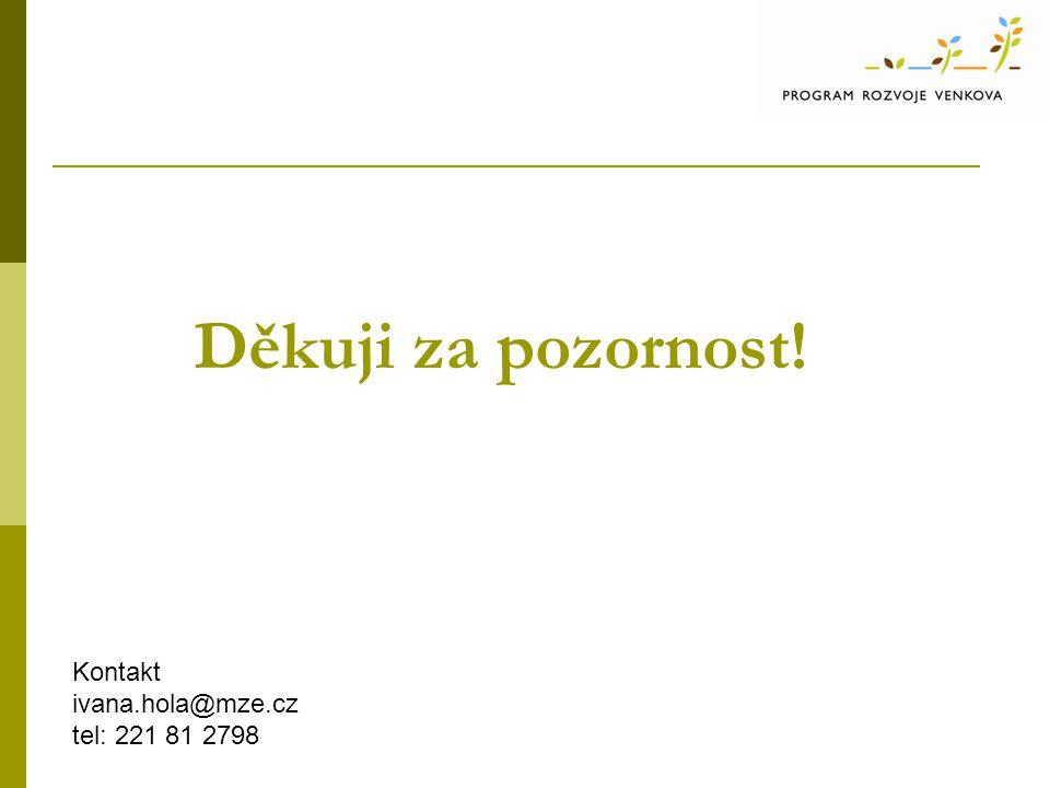 Děkuji za pozornost! Kontakt ivana.hola@mze.cz tel: 221 81 2798