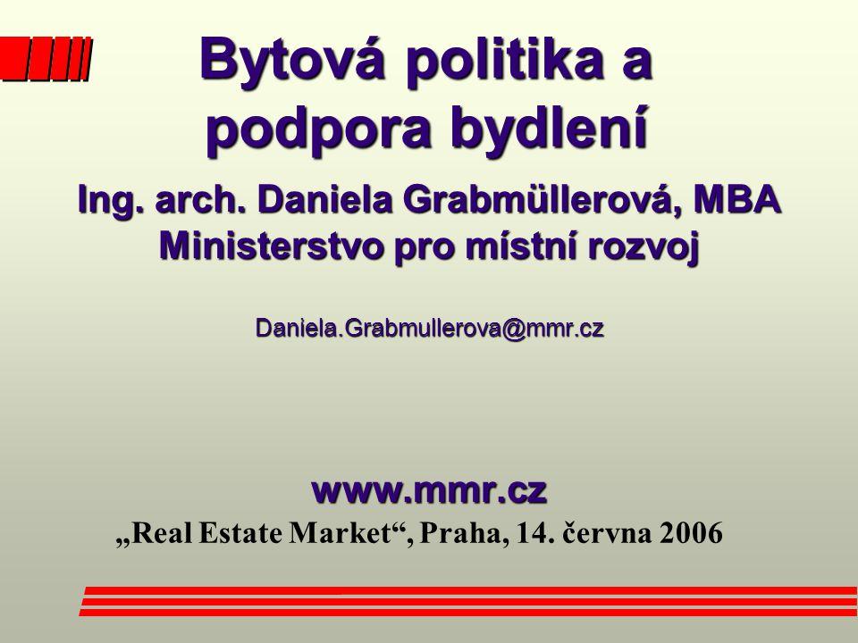Bytová politika a podpora bydlení