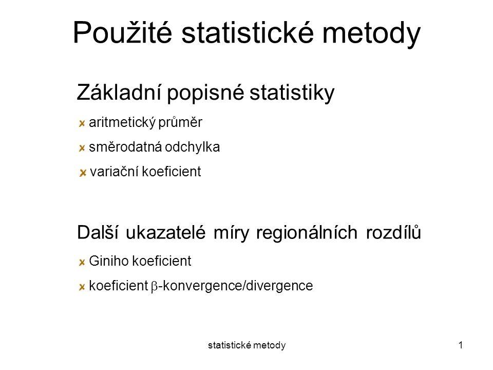 Použité statistické metody