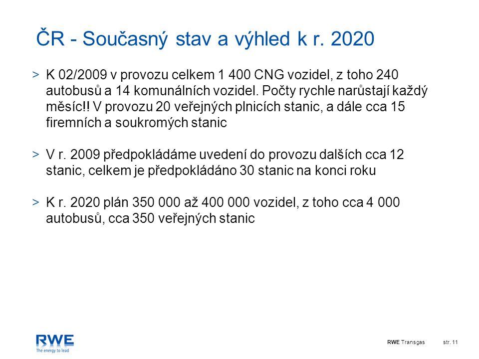 ČR - Současný stav a výhled k r. 2020