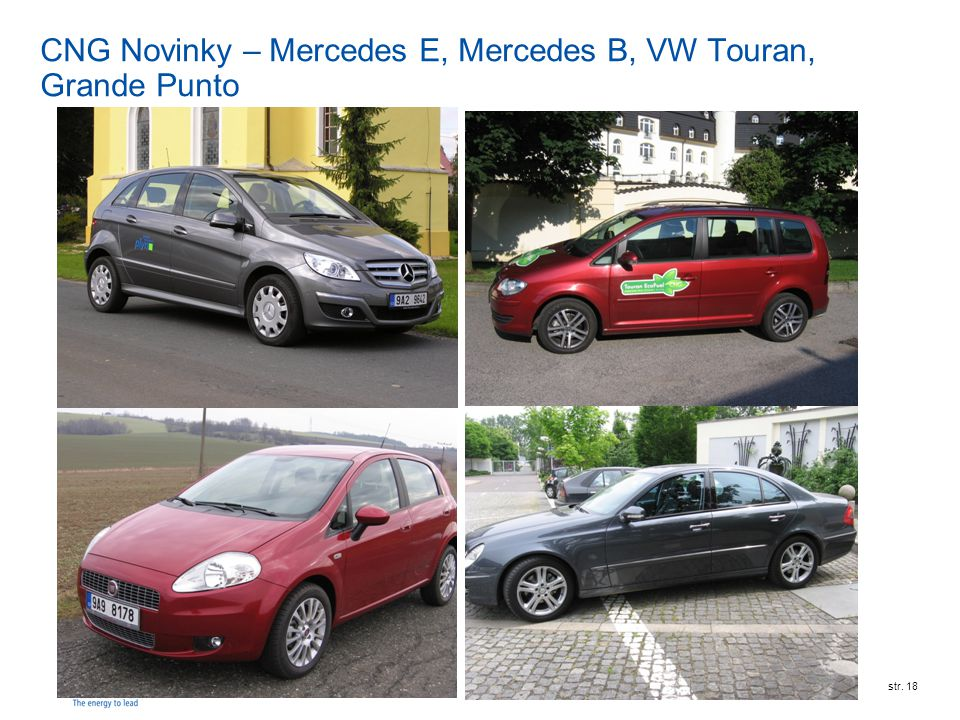 CNG Novinky – Mercedes E, Mercedes B, VW Touran, Grande Punto