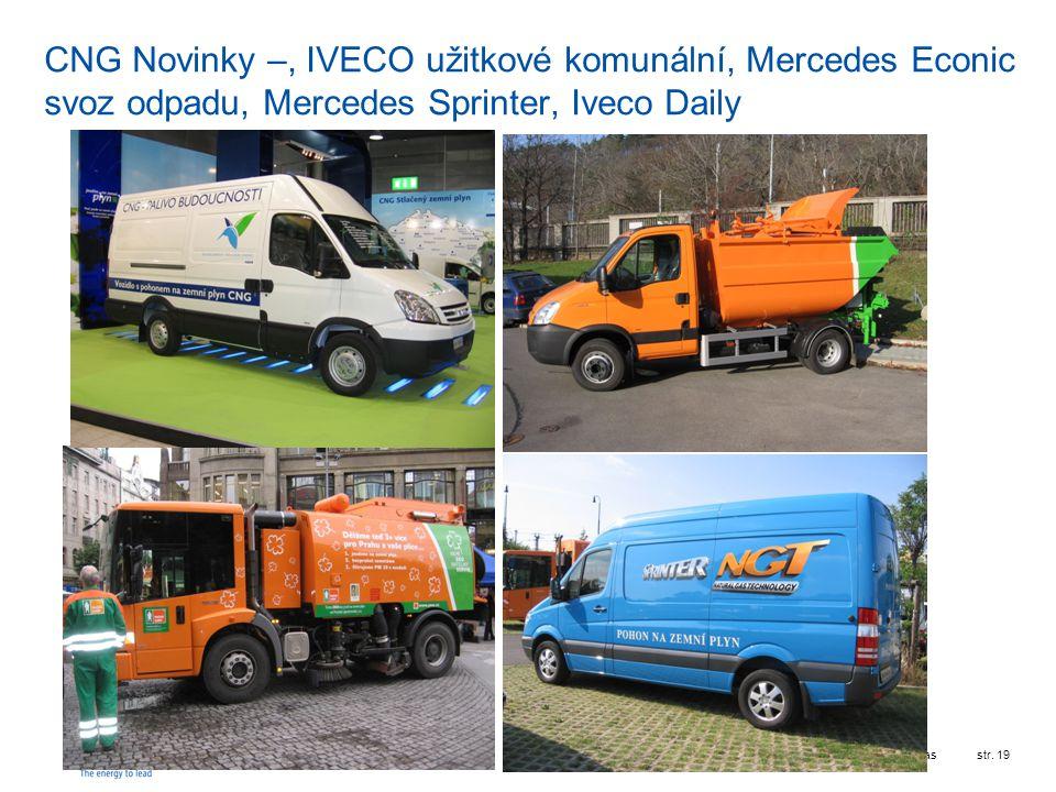 CNG Novinky –, IVECO užitkové komunální, Mercedes Econic svoz odpadu, Mercedes Sprinter, Iveco Daily