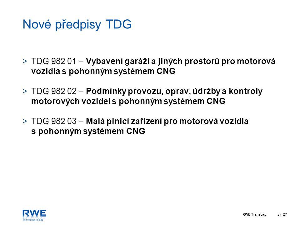 Nové předpisy TDG TDG 982 01 – Vybavení garáží a jiných prostorů pro motorová vozidla s pohonným systémem CNG.