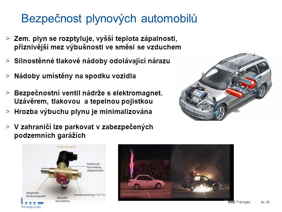 Bezpečnost plynových automobilů