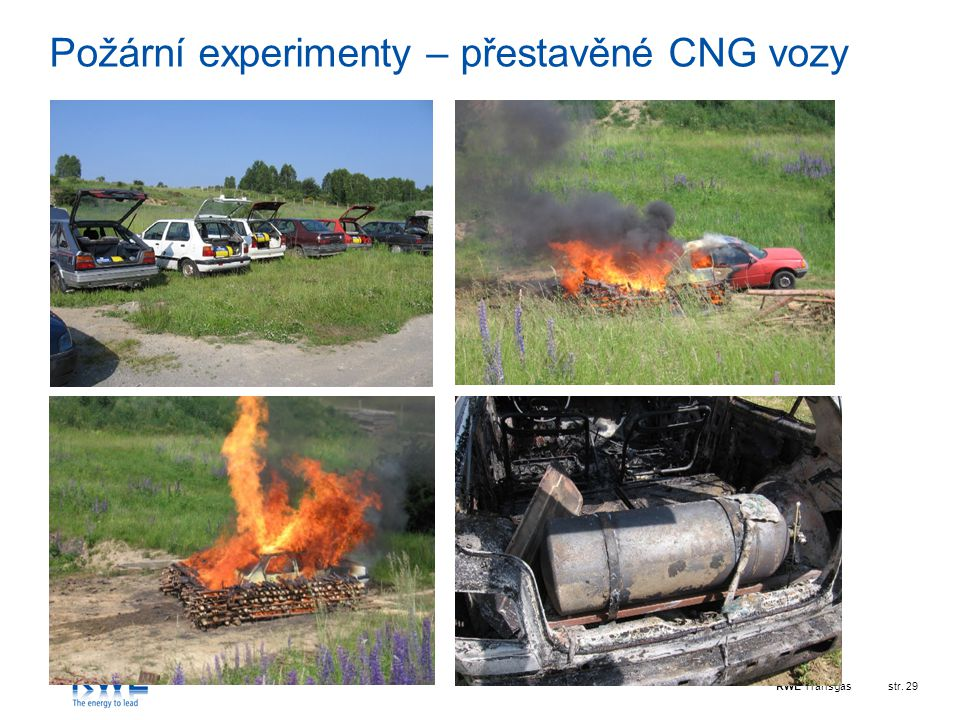 Požární experimenty – přestavěné CNG vozy