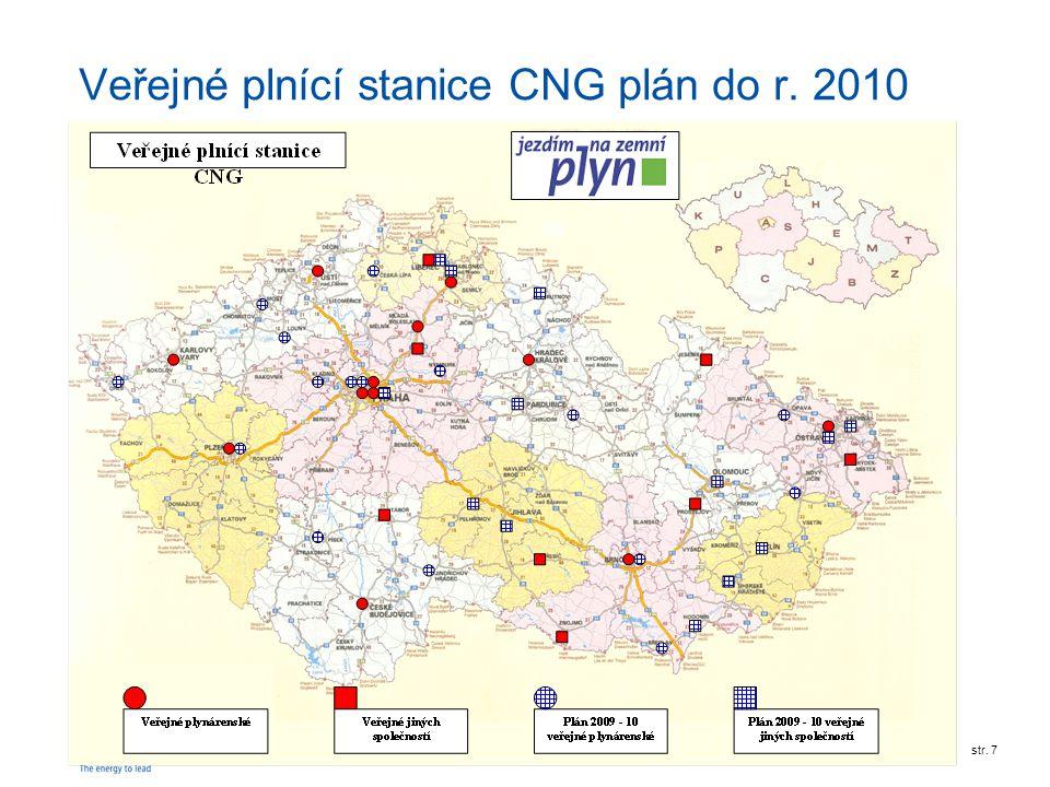 Veřejné plnící stanice CNG plán do r. 2010