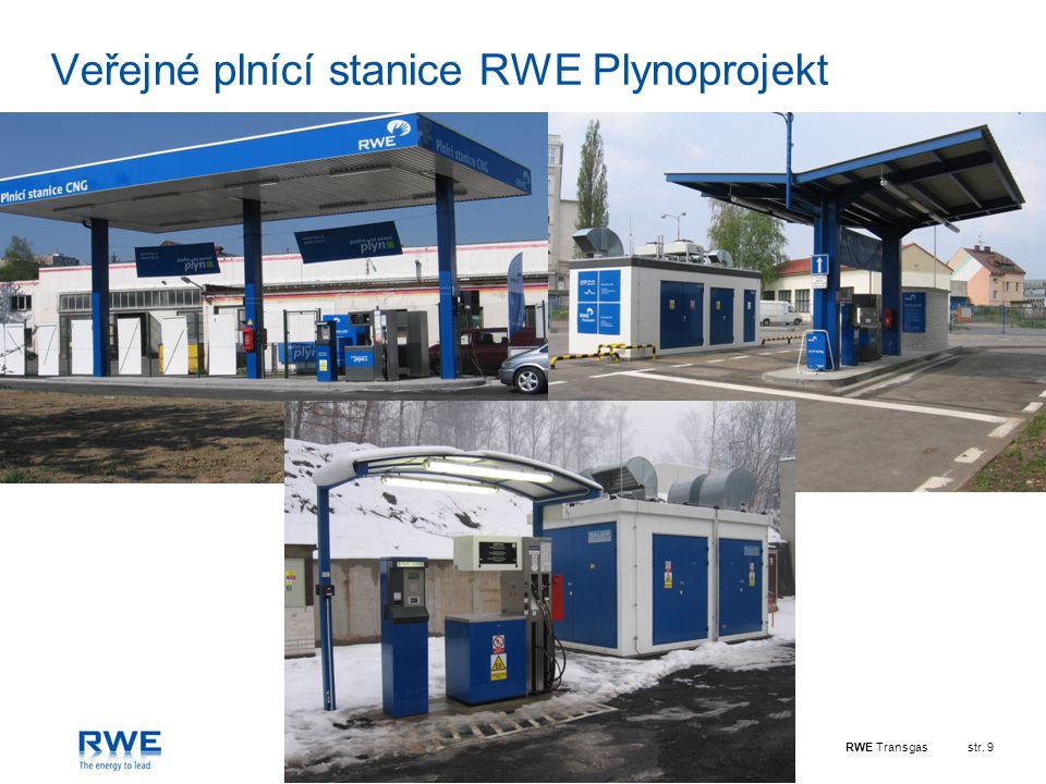 Veřejné plnící stanice RWE Plynoprojekt