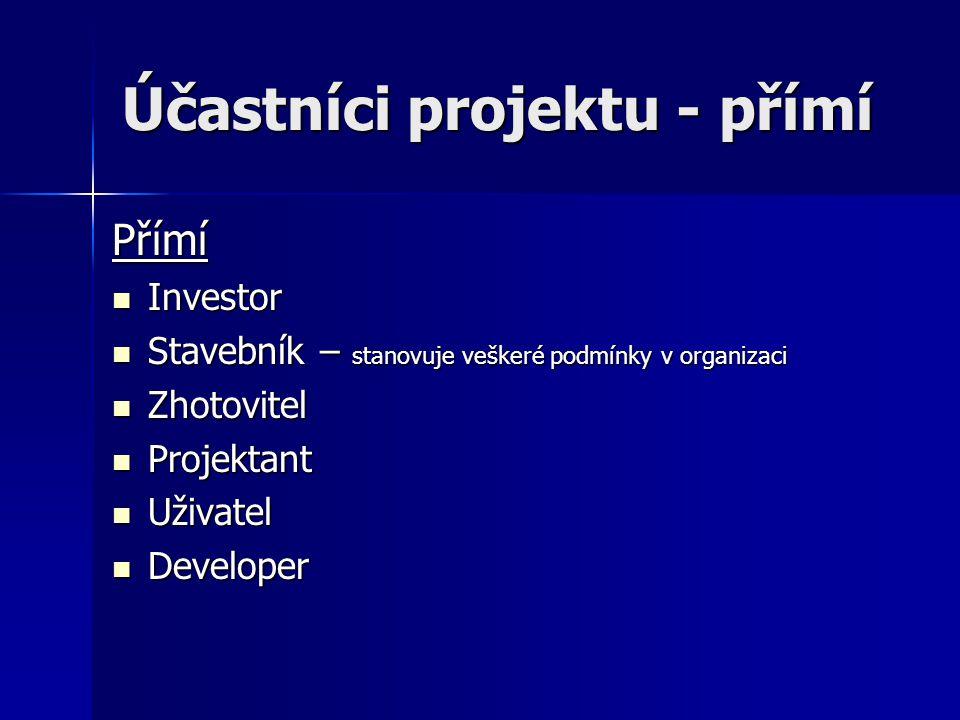 Účastníci projektu - přímí