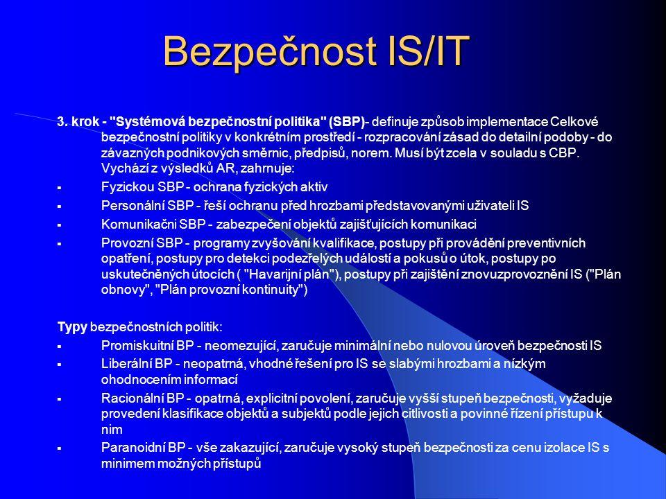 Bezpečnost IS/IT