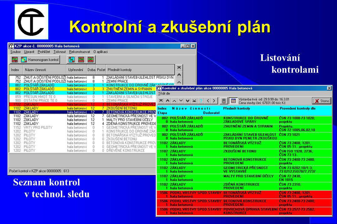 Kontrolní a zkušební plán