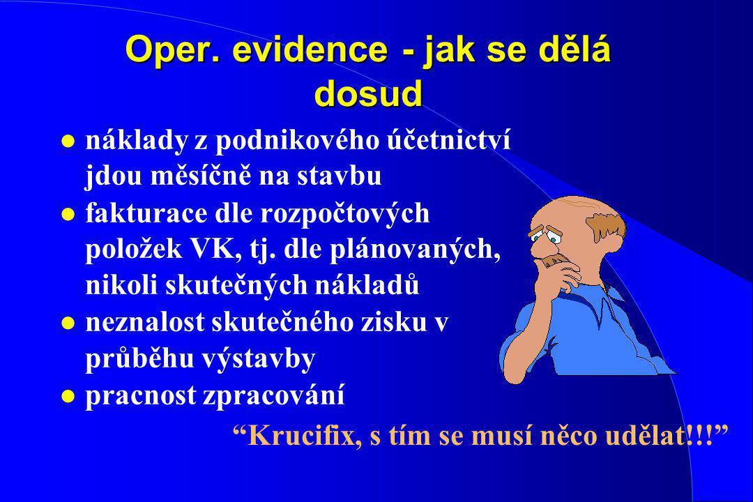 Oper. evidence - jak se dělá dosud