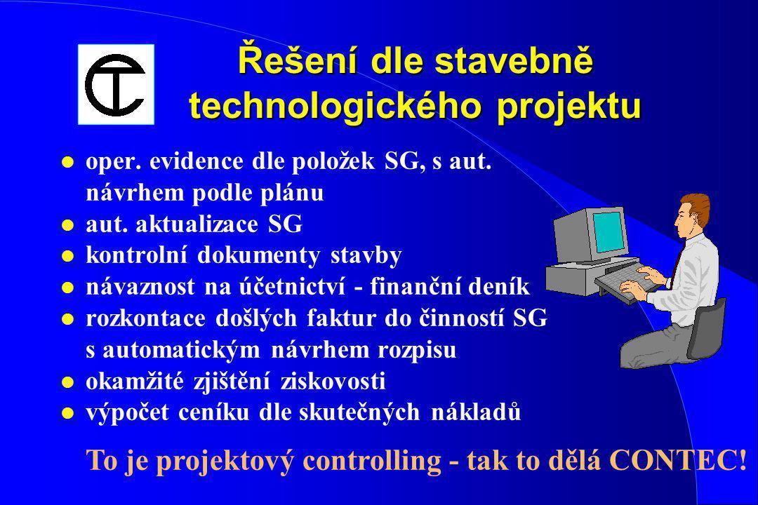 Řešení dle stavebně technologického projektu