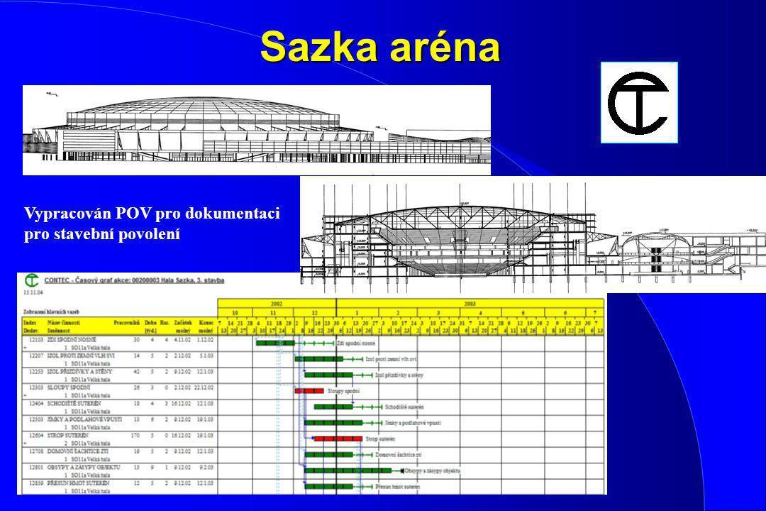 Sazka aréna Vypracován POV pro dokumentaci pro stavební povolení