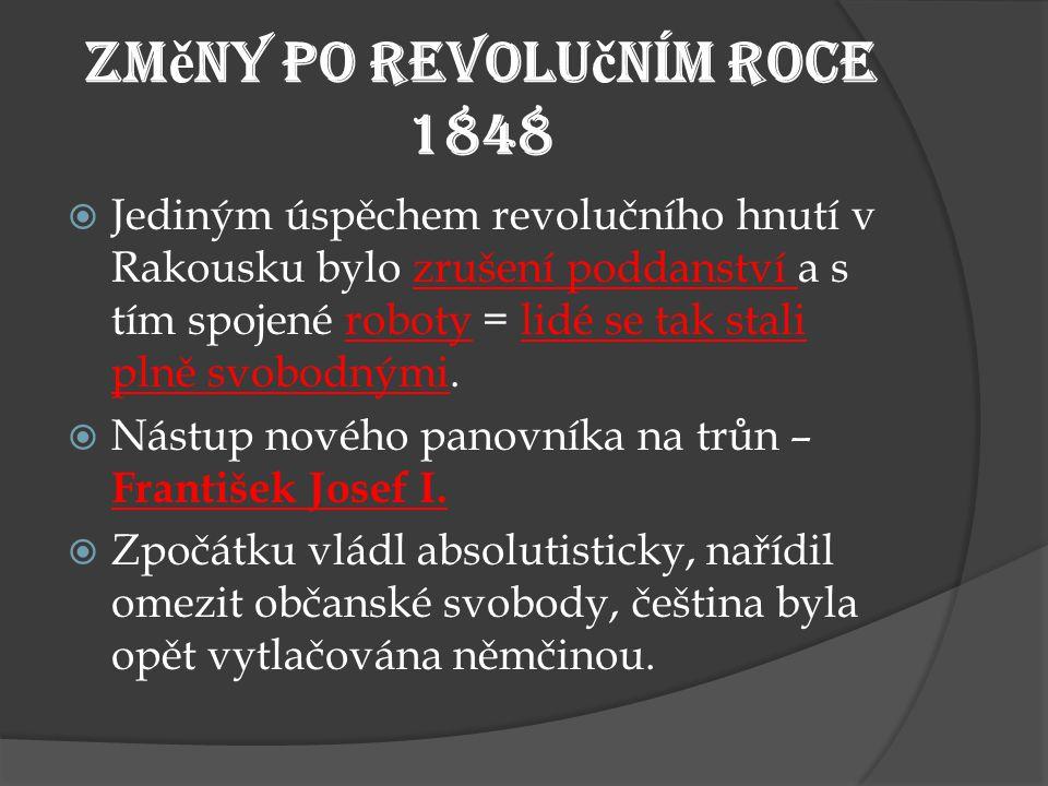 Změny po revolučním roce 1848