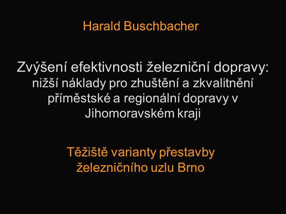 Těžiště varianty přestavby železničního uzlu Brno