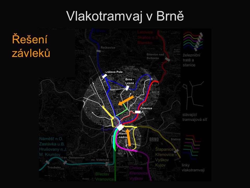 Vlakotramvaj v Brně Řešení závleků