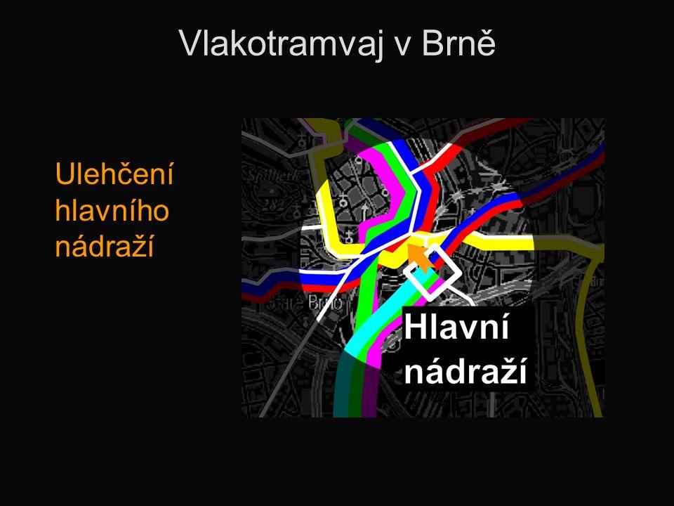 Vlakotramvaj v Brně Ulehčení hlavního nádraží