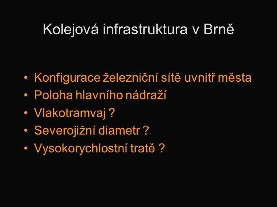 Kolejová infrastruktura v Brně